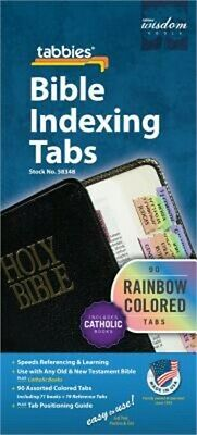 Rainbow Bible Indexing Tabs Including Catholic Books - (Shrink-Wrapped Pack)