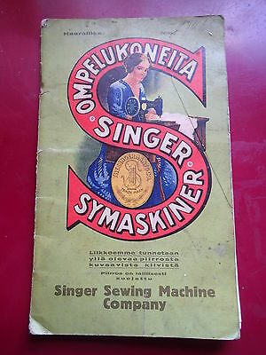1925/1926 SINGER SEWING MACHINE BOOK w LOT OF PAYMENT STAMPS FINLAND FINNISH