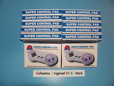 12 Lot Premium Game Controller For Super Nintendo Snes System With Xl Cord