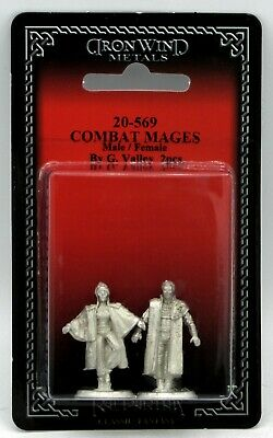 Ral Partha 20-569 Combat Mages Male & Female (Shadowrun) Mercenary Wizards NIB