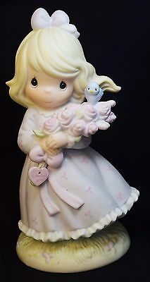 Large 1991 Precious Moments You are my Happiness Limited Production Enesco