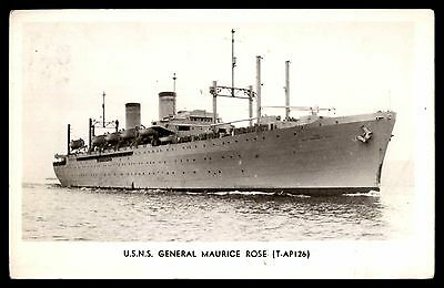 USNS General Maurice Rose photo military ship postcard