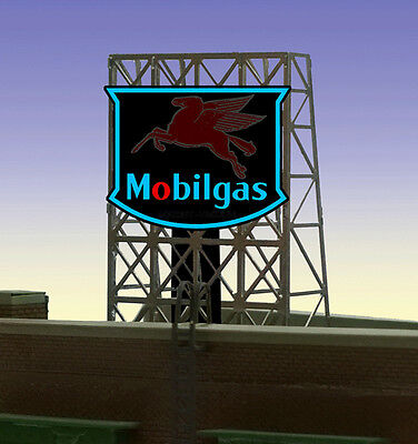 Mobil Gas Animated Billboard Sign for N Z Scale Miller 339025