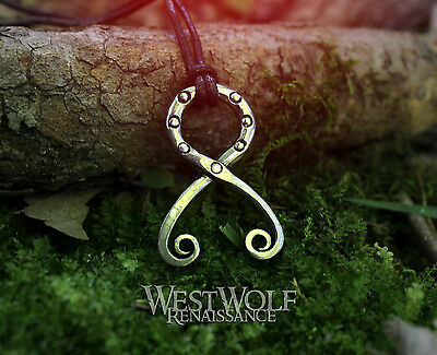 Viking Troll Cross Pendant -- Norse/Medieval/Odin/Necklace/Jewelry/Silver/Pewter