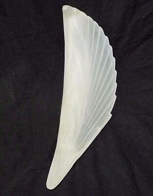 OLD Vintage ART DECO SLIP SHADE For SCONCE LAMP Satin GLASS Ribbed RETRO DESIGN