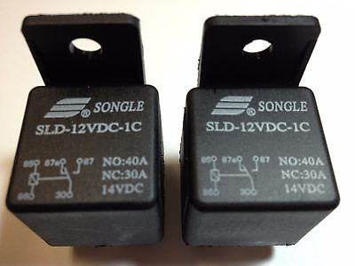 2 Songle 14VDC Relays SLD-012VDC-1C with harness