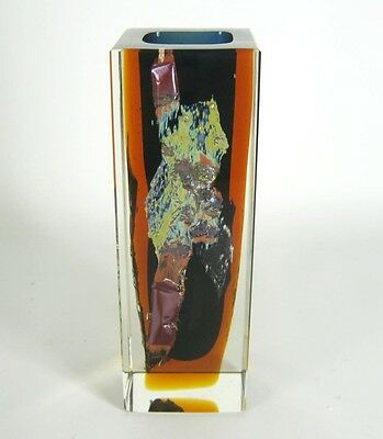 Exbor Glas Vase Pavel Hlava Design Czech Art Glass RARE ca. 17,5cm Cool
