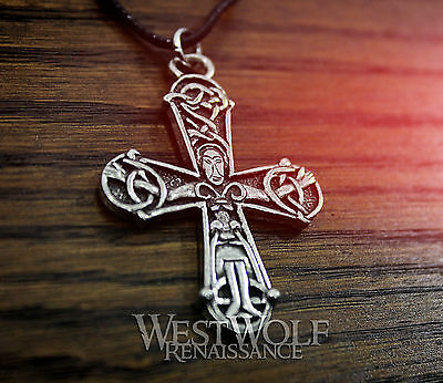 Viking Novgorod Cross Pendant - Russian Crucifix -- Norse/Medieval/Christ/Celtic