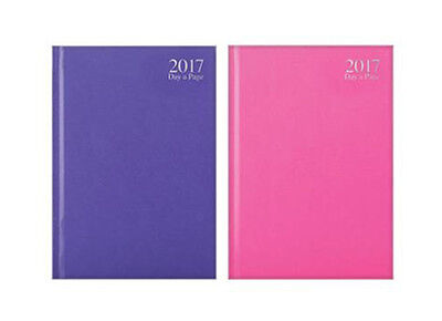 2017 Diary A4/A5/A6  Day to A Page/Week to View Diary Hardback  Purple/Hot Pink