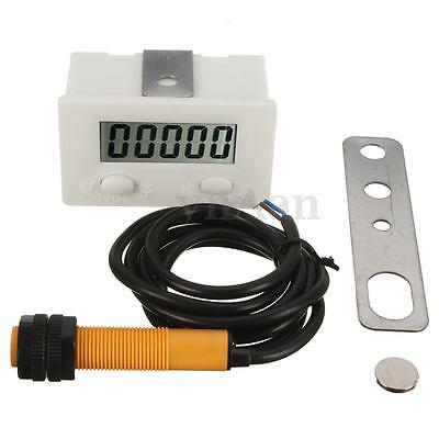 LCD Puncher Electronic Counter Digit 5 Magnetic Inductive Proximity Switches