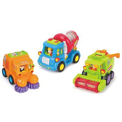 Tippi Friction Powered Push-Along Toy Trucks Childrens/Kids Play Vehicles/Cars