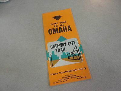 Vintage Take Time to See Omaha Gateway City Trail Travel Brochure