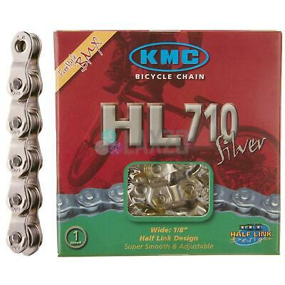 KMC HL710 Half Link BMX Chain Silver 104 Links Single Speed Track / Fixed Bike
