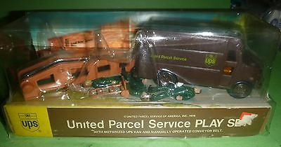 Ups United Parcel Service Play Set Van.conveyor 1978