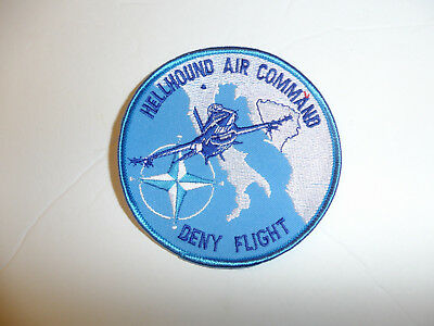 b3869 United Nations UN Hellhound Air Command Deny Flight patch Bosnia R2A