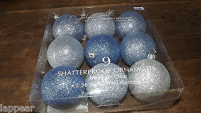 Jaclyn Smith Glittery Shatterproof Ornaments Christmas Tree Wedding Party Decor