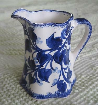 "Clinchfield Art Pottery Southern Potteries Blue Floral 4.25"" Pitcher"