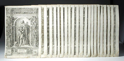 ARTEMIS GALLERY 17th C. German Engravings by D.Custodis (set of 21)
