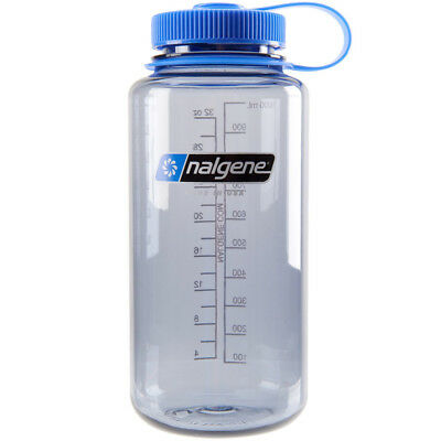 Nalgene Tritan Wide Mouth 32 oz. Water Bottle - Gray/Blue