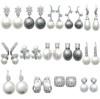 Rings' Ears / Sleepers cultured pearl solid silver JEWELRY of your choice