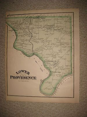 Antique Lower Providence Township Eagleville Pennsylvania Map Montgomery County