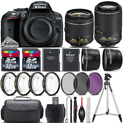 Nikon D5300 DSLR Camera with 18-55mm VR Lens + Nikon 55-200 VR II Lens -64GB Kit