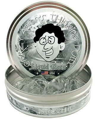 LIQUID GLASS original Crazy Aaron Crystal CLEAR PUTTY silly toy Transparent NEW