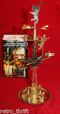 Swedish Christmas Angel Chimes Gold in Original Box Made in Sweden No Candles