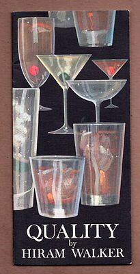 QUALITY BY HIRAM WALKER Drink Guide Canadian Club Party Hosting 1960s Booklet