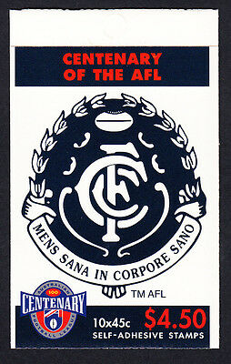 Australia 1996 Centenary of AFL Footy Booklet  10 Stamps Carlton FC