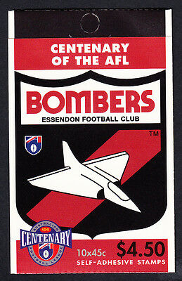 Australia 1996 Centenary of AFL Footy Booklet  10 Stamps Essendon Bombers