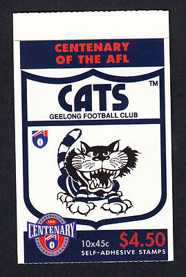 Australia 1996 Centenary of AFL Footy Booklet  10 Stamps Geelong Cats