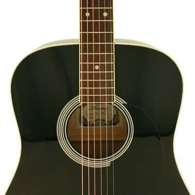 Marquez MD150 Black Steel String Acoustic Guitar Beginner Student Dreadnought