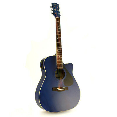 NEW Marquez MD150 Blue Cutaway Electric Acoustic Guitar
