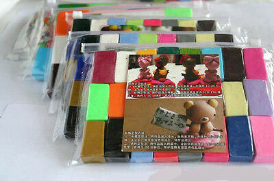 Mixed Colour 24 Soft Oven Bake Polymer Clay Modelling Moulding Block Art Design