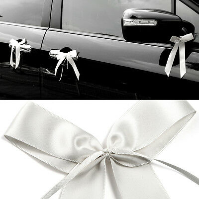 50x White Pull Bows Satin Ribbon Decorations Wedding Pew Gift Party