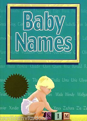 BABY NAMES Book Origin and Meanings from around the World 3000 names Boy Girl