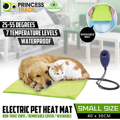 Pet Heat Mat Electric Waterproof Warming Pad Thermal Protection Dog Cat 40x30cm