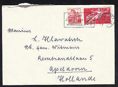 1948 Switzerland to Netherlands  Cover Montreux Hockey Championship