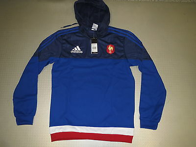 Sweat À Capuche France Rugby FR.FR 15/16 Orig. adida Taille XS-XXXL neuf France