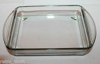 Holmegaard Denmark Replacement Glass 1 Dish Handle Insert for Serving Teak Tray