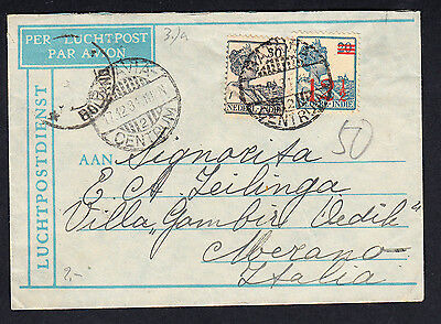 1929 - 1931 Italy - Netherlands Indies Airmail Cover Batavia Centrum Java