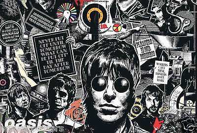 "Oasis ""drawing Of The Band & Quotes - Horizontal Version"" Poster From Asia"