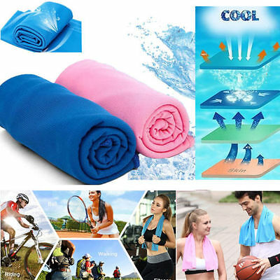 Ice Cold Enduring Running Jogging Gym Chilly Pad Instant Cooling Towel No Bottle
