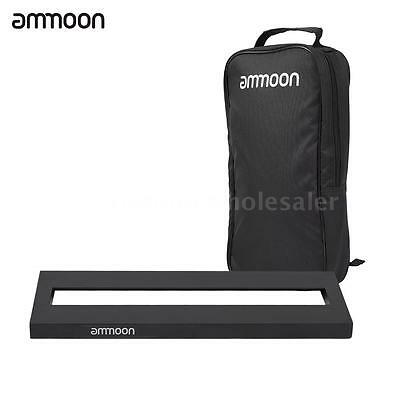 ammoon Mini Aluminum Alloy Guitar Pedal Board with Carrying Bag Tapes O7H6