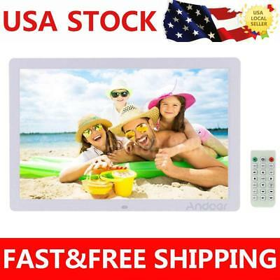 17 HD 1080P LED Digital Photo Picture Frame Alarm Movie Player Remote Christmas