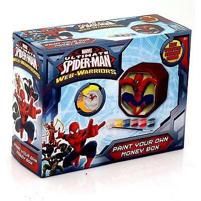 Spiderman Paint Your Own Money Box Childrens/Kids Painting Craft Play-Set/Kit