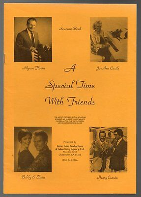PROGRAM TIME WITH FRIENDS Stars of the Lawrence Welk Show Jo Ann CASTLE SIGNED