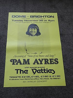 Pam Ayres/The Yetties 1976 Dome, Brighton Concert Poster