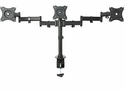 Triple Monitor Adjustable Mount / Articulating Stand for 3 LCD Screens up to 24""